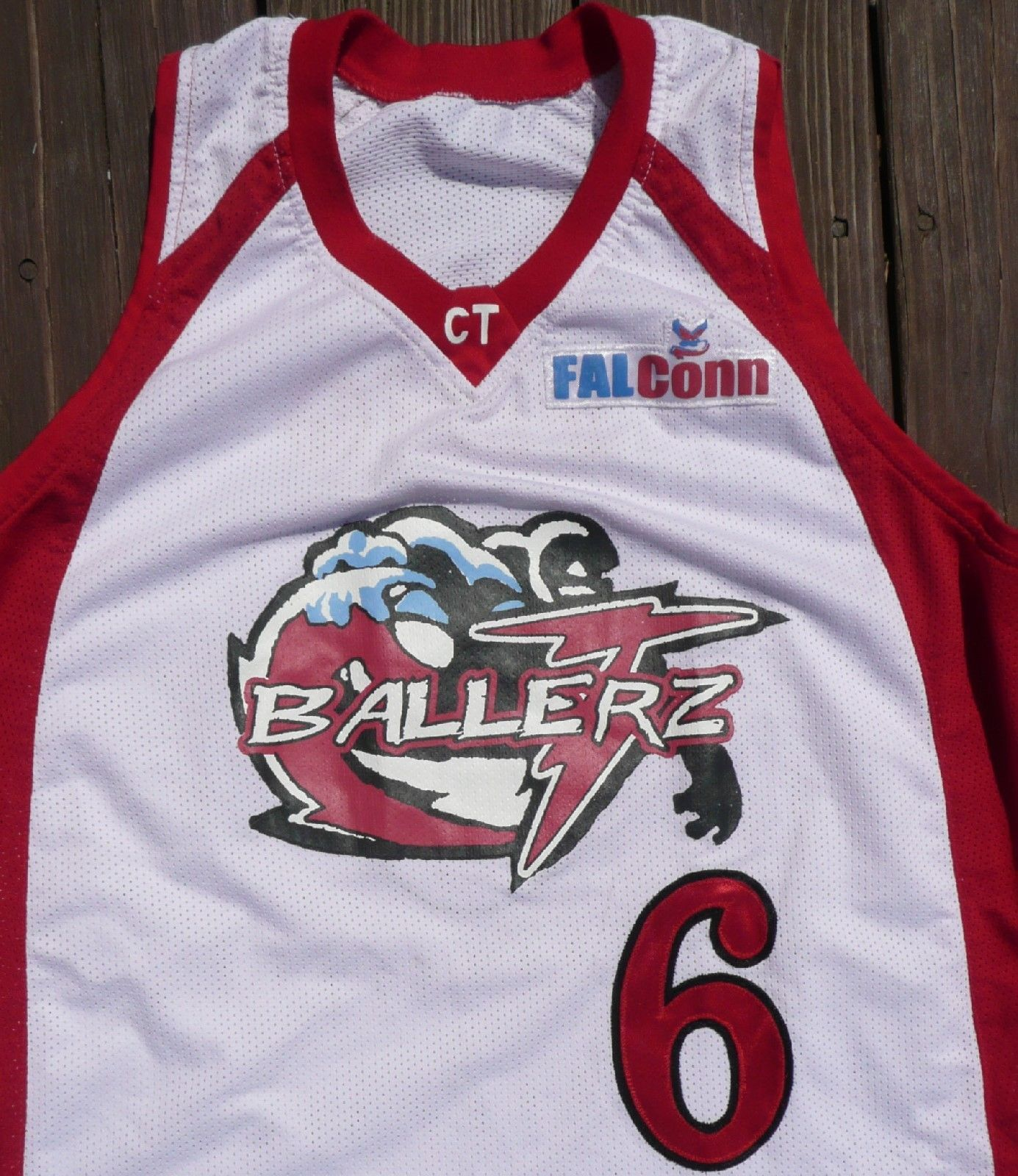 COOL Basketball Jersey XL Ballerz Embroidered #6 L@@K Great Graphix FREE SHIP