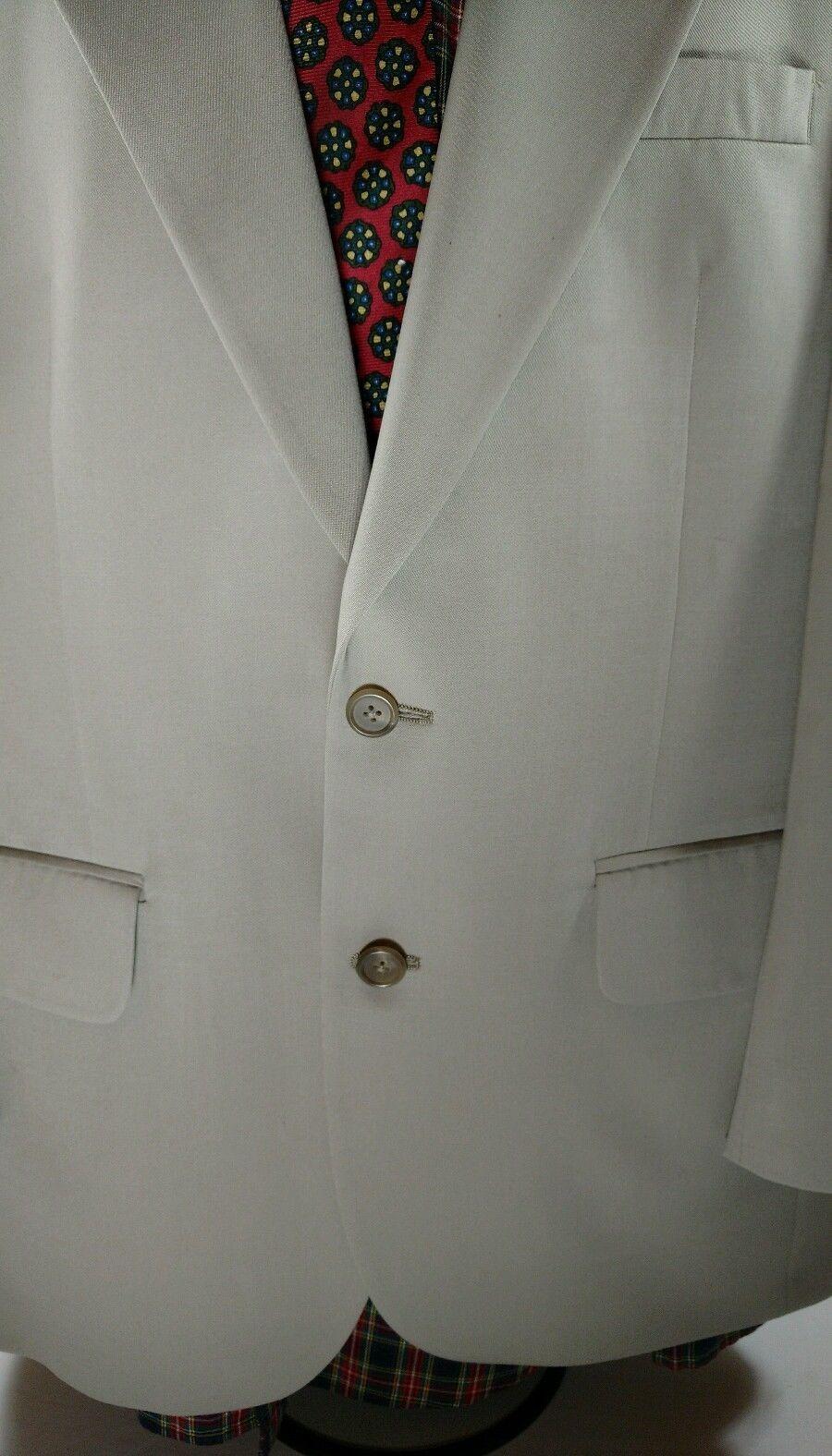 Burberry Mens Wool Sports Coat Suit Jacket 2 Button Blazer 40R? Beige Lt Brown