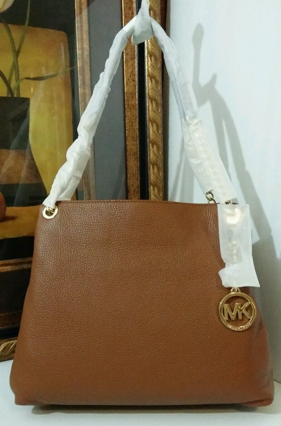 NWT MICHAEL KORS Jet Set Chain Large Leather Shoulder Tote Bag Luggage $298