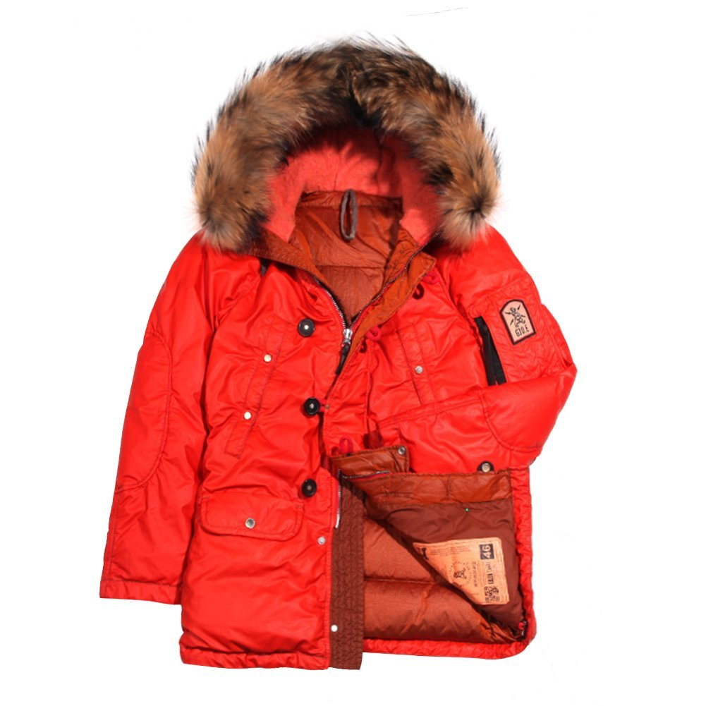 Grunge John Orchestra.Explosion Men's Park A8 Down Jacket PARKA8-RED Red, SZ 50
