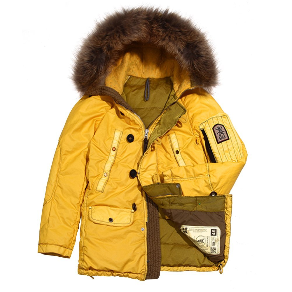Grunge John Orchestra.Explosion Men's Park A8 Down Jacket PARKA8-YELLOW Yello...