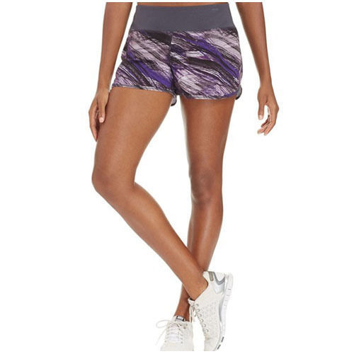 Ideology Printed Woven Active Shorts, Night Iris, Sz. Small