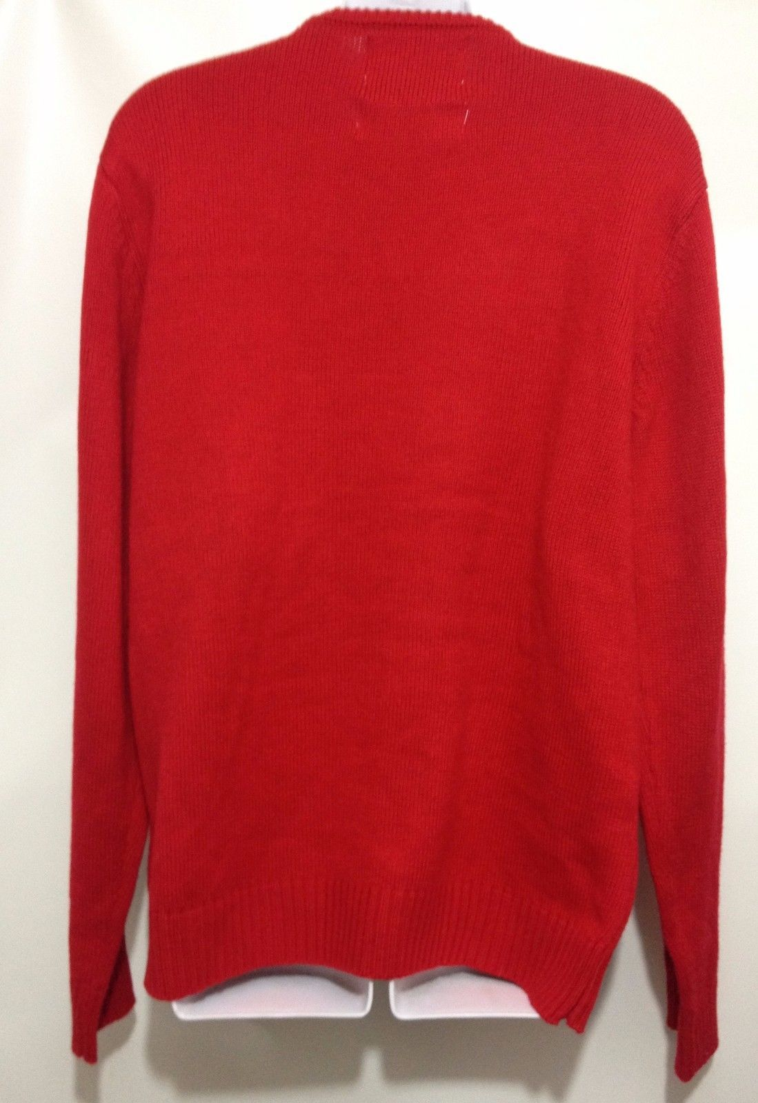 Ugly Christmas Red Sweater Womens L Googly Eye Snowman Frosty Cedarwood State