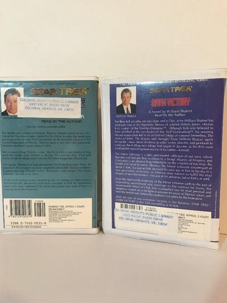 Star Trek Preserver Dark Victory Audio Book Cassette Tapes William Shatner
