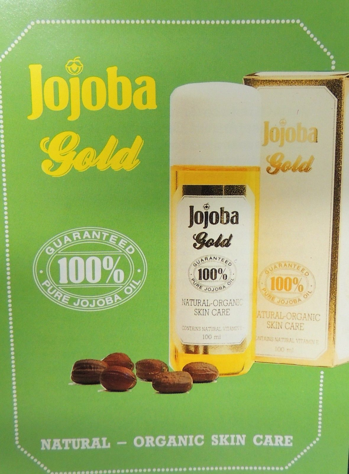 GENUINE Jojoba Gold Natural 100% Pure Organic Skin Hair Care Oil 100 ml Germany