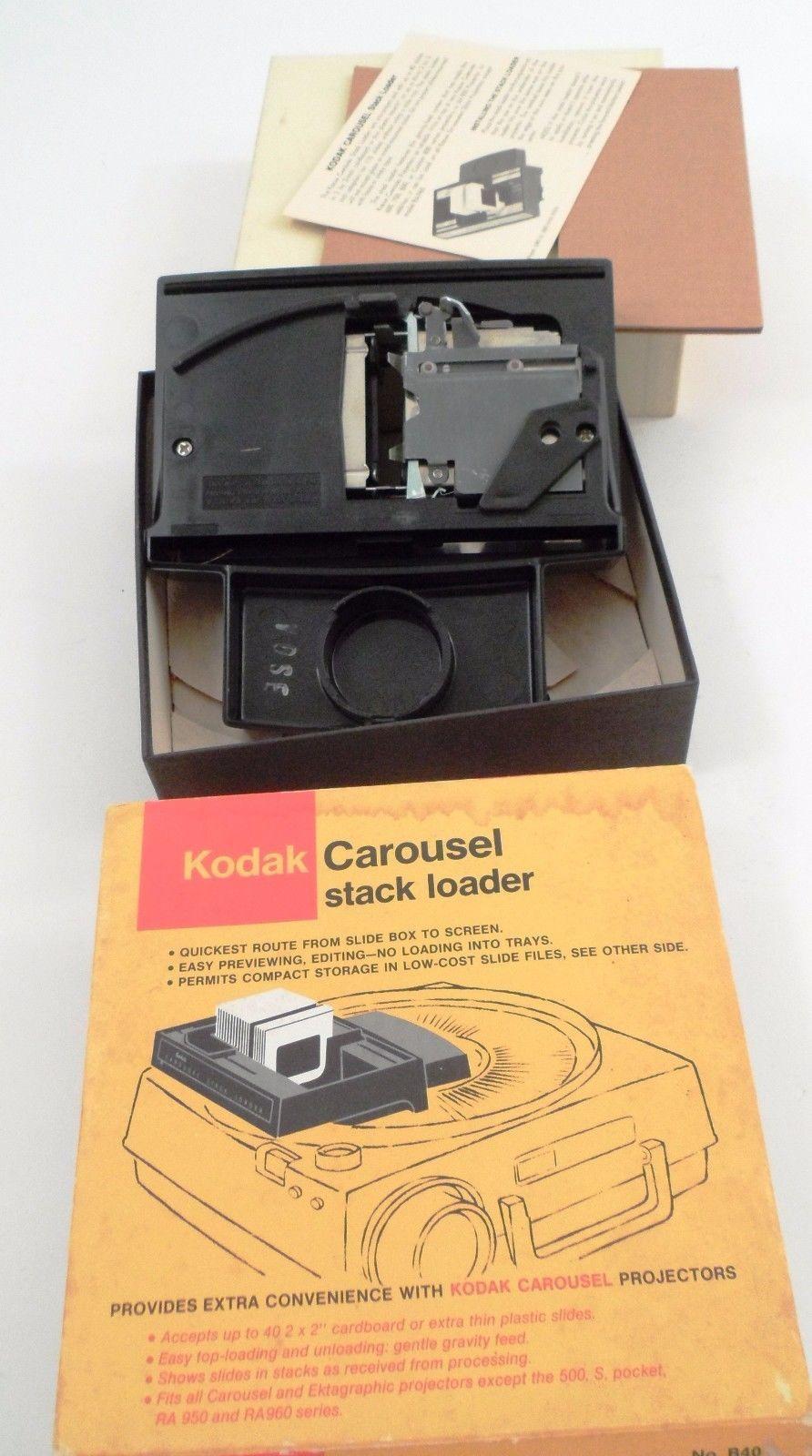 "EUC Kodak Carousel Stack Loader Holds 40 2""X2"" Cardboard or Thin Plastic Slides"