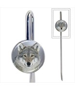 Beautiful Gray Wolf Bookmark - Book Lover Novelty Gifts - $12.62