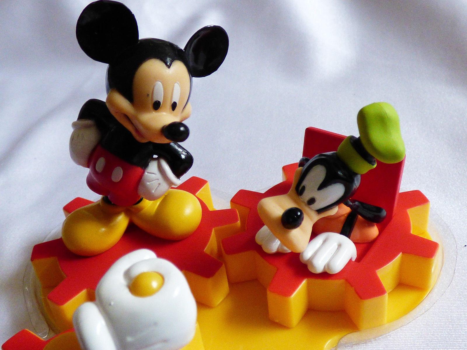 Bakery DecoPac Mickey & Pluto Fun Gears Decopack Figurines Cake Kit Toppers NIB