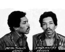 Jimi Hendrix Mug Shot SFOL Vintage 8X10 BW Musi... - $6.99