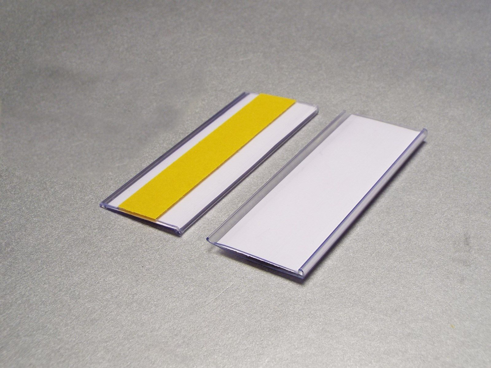 Self-Adhesive Ticket Holders 38mm high x 100mm long EPOS Strips Pack of 100