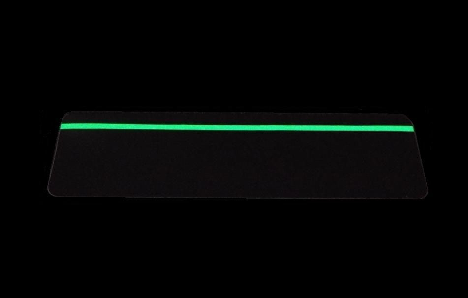 Anti-Slip Stair Treads Photoluminescent Strips 150 x 610mm Glow In The Dark Pk=5