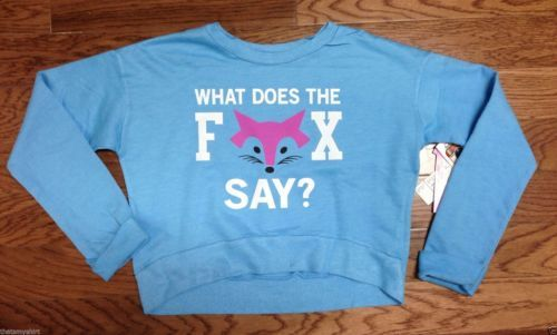 New Super Soft So Nikki What Does the Fox Say? Girls Long Sleeve Fashion Top
