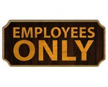 Employees only wood sign thumb155 crop