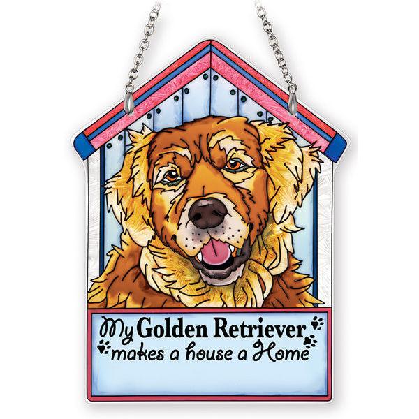 Golden Retriever Doghouse Suncatcher