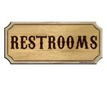 Restrooms wood sign1 thumb155 crop