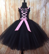 Girls Witch Tutu Costume, Pink Witch Tutu Dress, Black Witch Tutu Costume - $40.00+