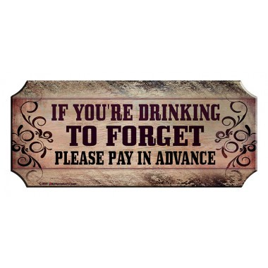 Pay advance wood sign