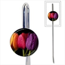 Colorful Tulips Flowers Bookmark - Book Lover Novelty Gifts - $12.62
