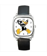 Daffy Duck Round & Square Leather Strap Watch - $11.99