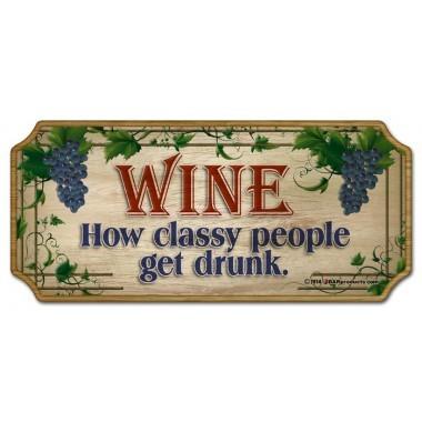 Sign wood wine classy
