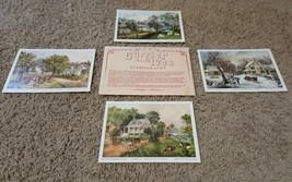 VINTAGE Set Of Currier & Ives Lithograph NY- Am... - $9.99