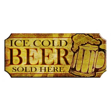 Cold beer here wood sign web