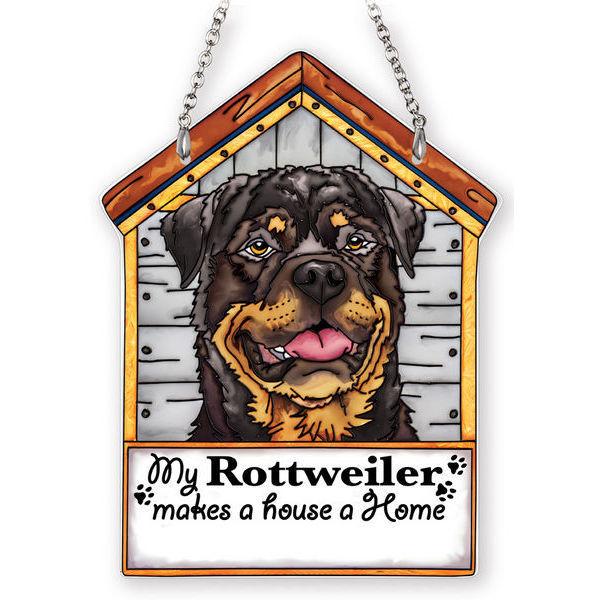 Rottweiler Doghouse Suncatcher