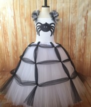 Girls Spider Tutu Costume, White Spider Tutu Costume, Spider Witch Costume - $50.00+