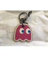 NWT Coach PAC MAN Ghost Key Chain Charm Leather pink - $48.00
