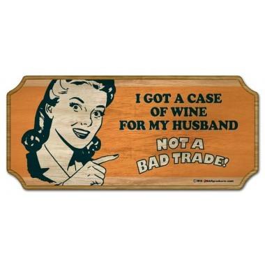 Sign wood wine case husband