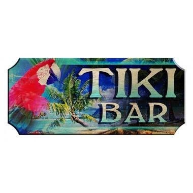 Tiki bar wood sign1