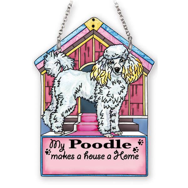 Poodle Doghouse Suncatcher