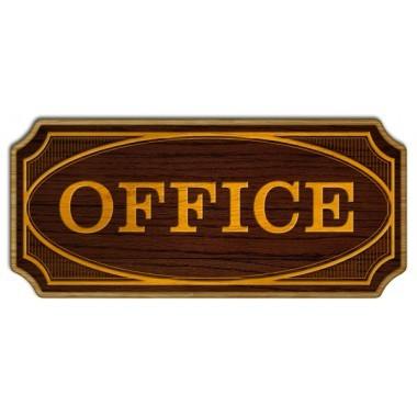 Office wood sign