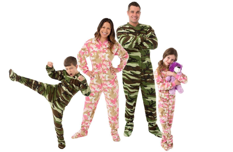 f6baf0b75 Big Feet Pjs Pink Camouflage Fleece Footed and 16 similar items