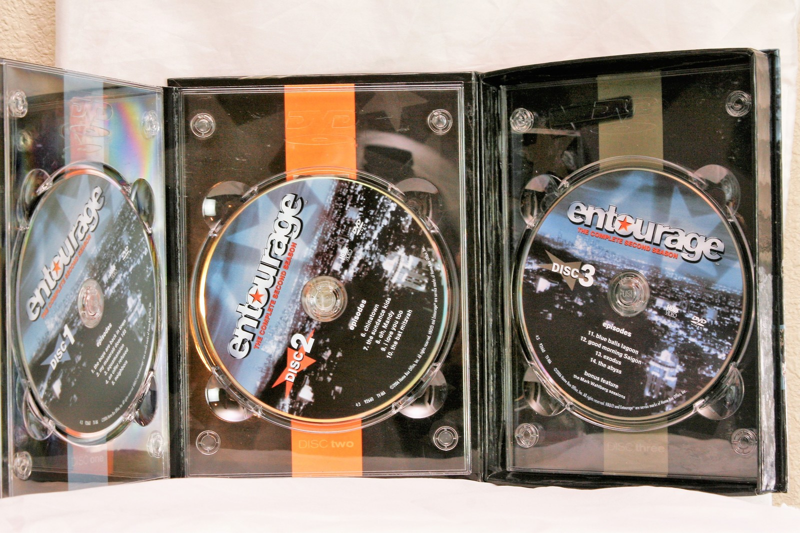 Entourage: The Complete First AND Second Season (DVD, 2005, 5-Disc Total)