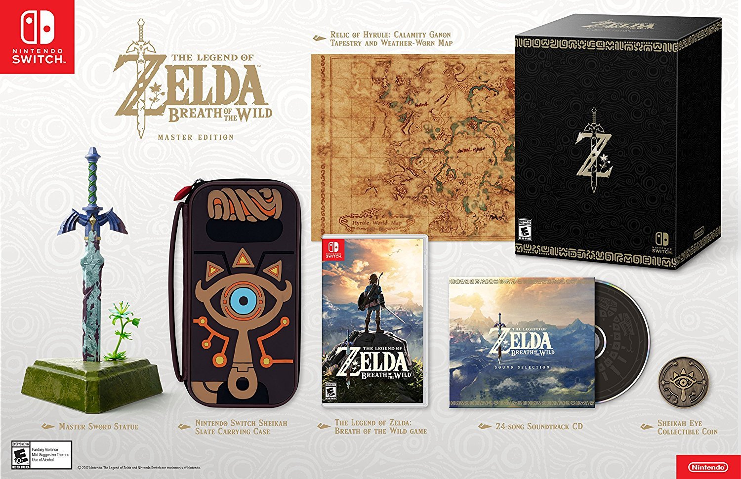 The Legend of Zelda Breath of The Wild Master Edition for Nintendo Switch