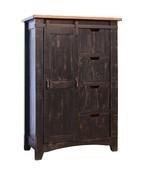 Anton Distresses Black Sliding Barn Door Chest Of Drawers - $1,173.15