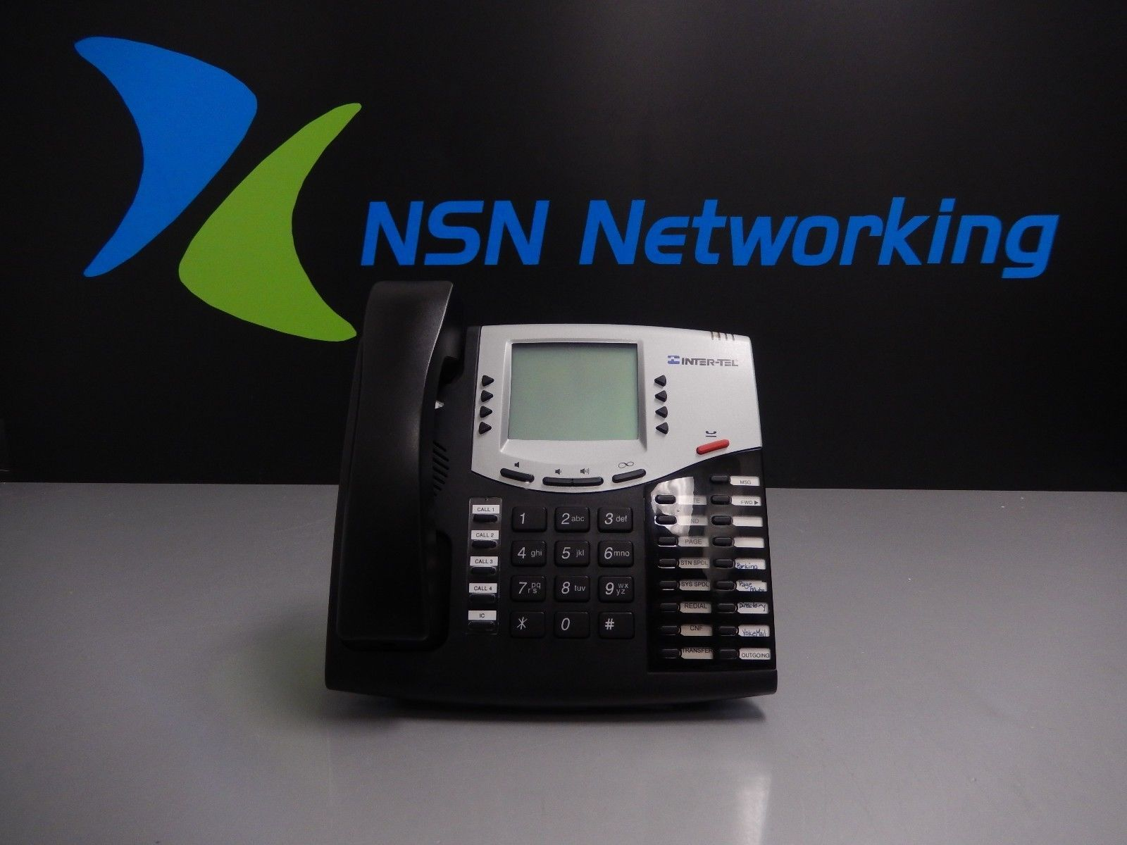 Inter-Tel Mitel 550.8662P Axxess Black Large LCD Display Phone FREE SHIPPING