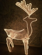 "48"" 3D animated deer buck crystal ice panels CHRISTmas yard decor rope l... - £51.96 GBP"