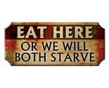 Eat here wood bar sign1 thumb155 crop