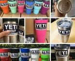 YETI Rambler 30 oz Tumbler Stainless Powder Coat 12 COLORS Cup Mug (Free Spill-P