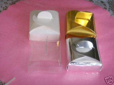 """12 Clear  Shower Favor  candy Boxes 2"""" x 2"""" x 1"""""""