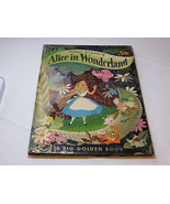 Walt Disneys Alice in Wonderland 1951 book Big Golden Hardcover Vintage - $148.49