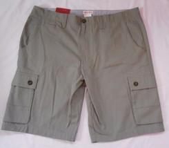 Merona 42 NWT Mens Flat Front Cargo Shorts Light Mint Green New - $21.97