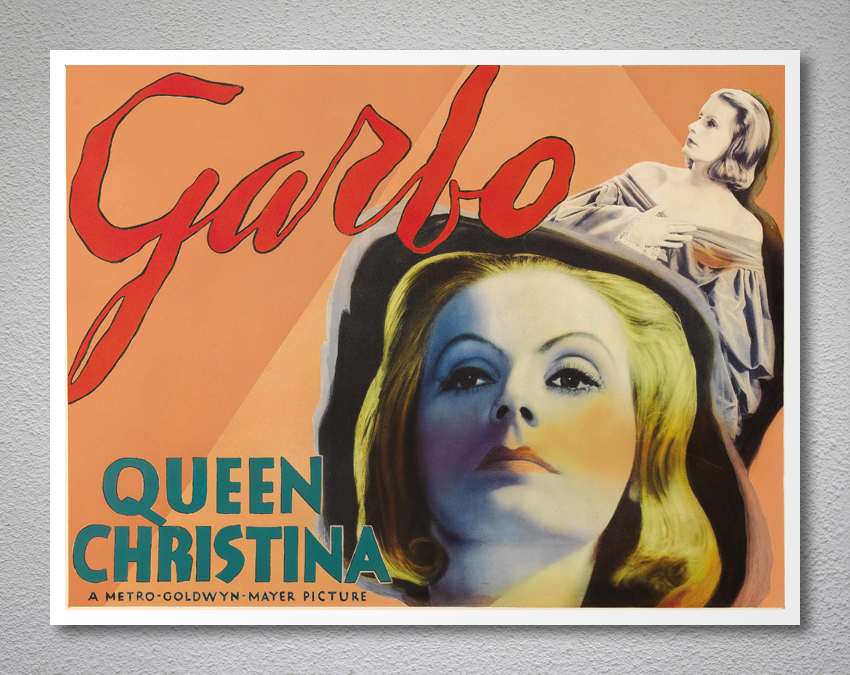 Queen Christina, Greta Garbo Vintage Movie Poster - Poster Paper, Sticker or Can for sale  USA