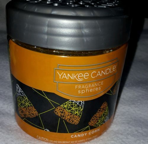 yankee candle fragrance spheres 6 oz candy corn scent  new sealed