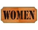 Women restroom sign thumb155 crop