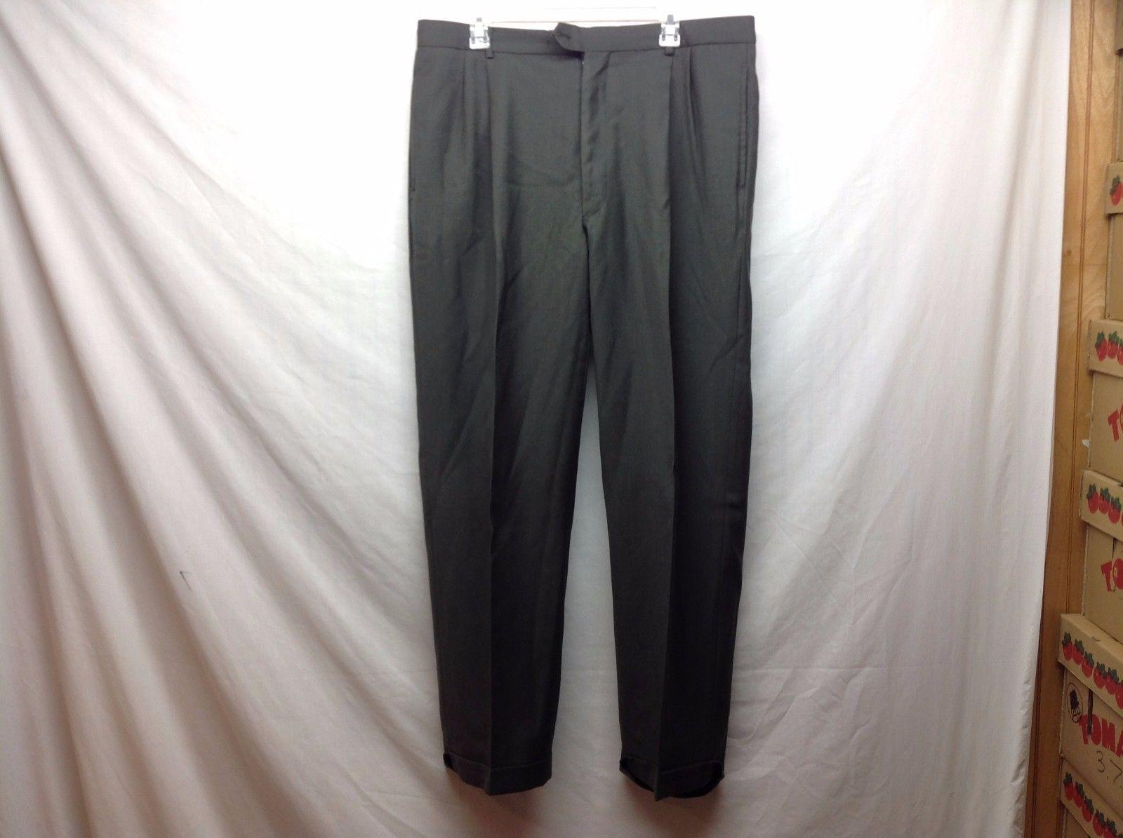 Joseph Abboud Mens Dark Gray Casual Pants