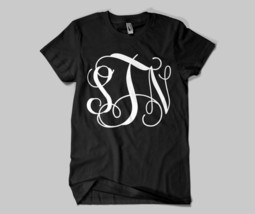 Monogrammed Initials SHORT SLEEVE Personalized T-shirts - $21.99+