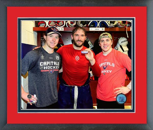 Alex Ovechkin Holds the Puck His 1000th Career NHL Point-11x14 Framed Photo
